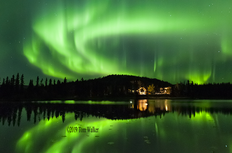 Aurora over Tonglen Lake, Alaska, #1709