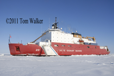 Icebreaker Healy on Bering Sea